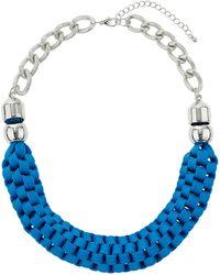 Topshop Blue Woven Fabric Collar  Blue - Lyst