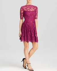 Cynthia Steffe Dress Blay Floral Lace Elbow Sleeve - Lyst
