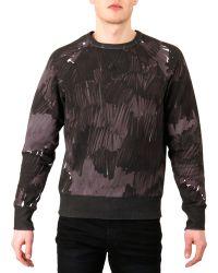 Acne Studios Camo-print Sweatshirt - Lyst