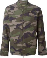 Valentino Camouflage Bomber Jacket - Lyst