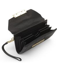 hayden-harnett - Black Ellis Quilted Clutch Wallet - Lyst