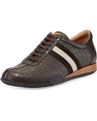 Bally Frenz Croc-embossed Leather Sneaker - Lyst
