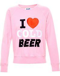 Filles A Papa I Love Cold Beer Sweatshirt - Pink