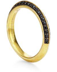 Genevieve Jones Oralee Non Duality Pave Stone Ring - Metallic