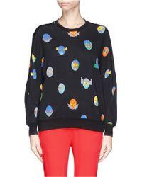Stella McCartney Superstellaheroes Mask Print Sweatshirt - Lyst