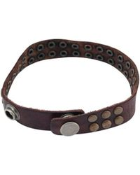 HTC Leather Bracelet With Studs - Lyst