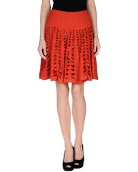 Maison Rabih Kayrouz Knee Length Skirt - Lyst