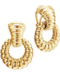 John Hardy Bedeg 18k Gold Door-knocker Earrings - Lyst