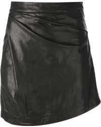 Vivienne Westwood Anglomania Asymmetric Draped Short Skirt - Lyst