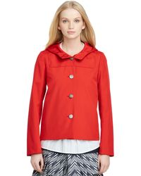Brooks Brothers Hooded Coat - Lyst