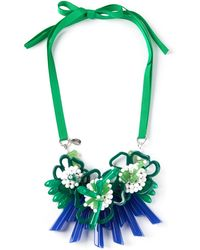 P.A.R.O.S.H. Clustered Floral Necklace - Green