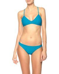 Mikoh Swimwear Aqua Maui Bikini Top blue - Lyst
