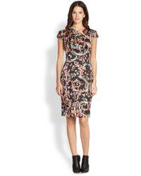 Just Cavalli Satin Collarsplit Dress - Lyst