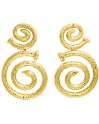 David Webb | 18k Hammered Spiral Nail Earrings | Lyst