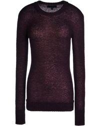 Burberry Prorsum Purple Cashmere Sweater - Lyst