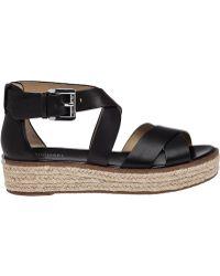 MICHAEL Michael Kors | Darby Leather Platform Sandals | Lyst