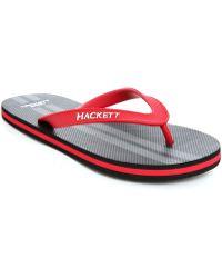 Hackett | Black Aston Martin Flip-flops | Lyst