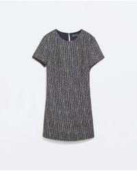 Zara Printed Jumpsuit Dress - Lyst