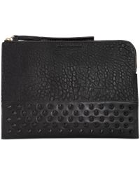 French Connection Motley Studded Clutch - Lyst