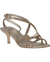 Pelle Moda Frantic Evening Sandal Gold Leather - Lyst