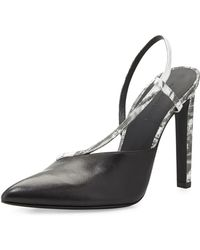 Alexander Wang Kayla Asymmetric Leather Pump with Slingback - Lyst