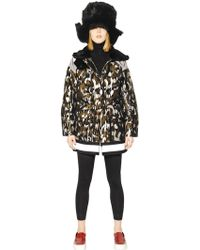 Moncler Gamme Rouge - Camo Techno & Wool Blend Down Jacket - Lyst