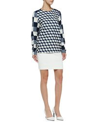 O'2nd - Quilted Miniskirt W/inverted Pleats - Lyst