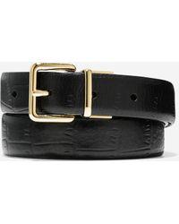 """Cole Haan 1"""" Reversible Croc Leather Belt black - Lyst"""