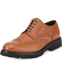 Bruno Magli Majro Leather Wingtip Oxford - Lyst