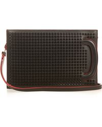 Christian Louboutin - Trictrac Spikes Leather Bag - Lyst