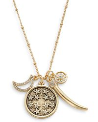 Saks Fifth Avenue Pavé Star Map Charm Necklace - Lyst