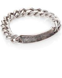 Maison Margiela Distressed Id Bracelet - Lyst