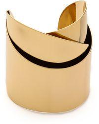 Alexis Bittar Geometric Ribbon Cuff Bracelet Gold - Lyst