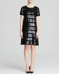 Catherine Catherine Malandrino Olive Sequin Stripe Dress - Lyst