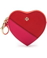 Tory Burch Kerrington Heart Key Pouch - Kir Royalecarnation Red - Lyst
