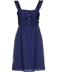 Burberry Brit - Short Dress - Lyst