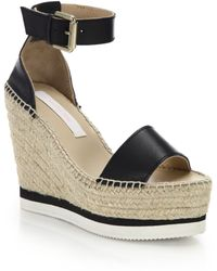 See By Chloé | Leather Wedge Sandals | Lyst