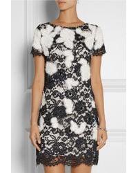 Notte By Marchesa Appliquéd Lace Mini Dress - Lyst