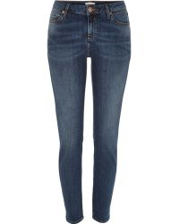 River Island | Dark Wash Alannah Slim Jeans | Lyst