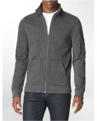 Calvin Klein Jeans Slim Fit Zip Front Hooded Jacket - Lyst