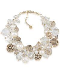 Carolee Barcelona Baubles Dramatic Cluster Necklace - Metallic
