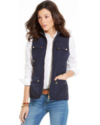 Tommy Hilfiger Quilted Panel Utility Vest - Lyst