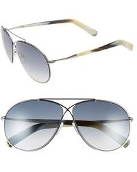 Tom Ford Women'S 'Eva' 61Mm Aviator Sunglasses - Ruthenium/ Gradient Grey - Lyst