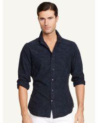 Ralph Lauren Black Label Camouflage Sloan Sport Shirt - Lyst