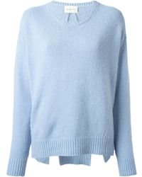 Dondup Side Slits Asymmetric Sweater - Lyst