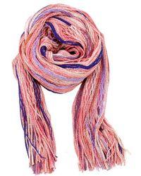 Missoni Pink and Orange Fringe Scarf - Lyst