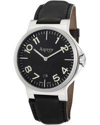 Asprey - No8 Mens Black Luminous Dial Quartz Watch with Date Asprey Watch - Lyst
