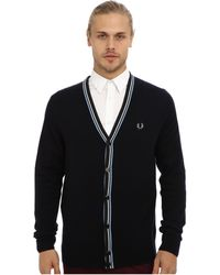 Fred Perry Bold Tipped Cardigan - Lyst