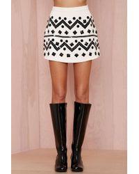 Nasty Gal Short Work Sequin Skirt - Lyst