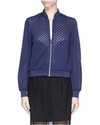 Elizabeth And James 'Gayn' Diamond Perforated Scuba Jersey Jacket - Lyst